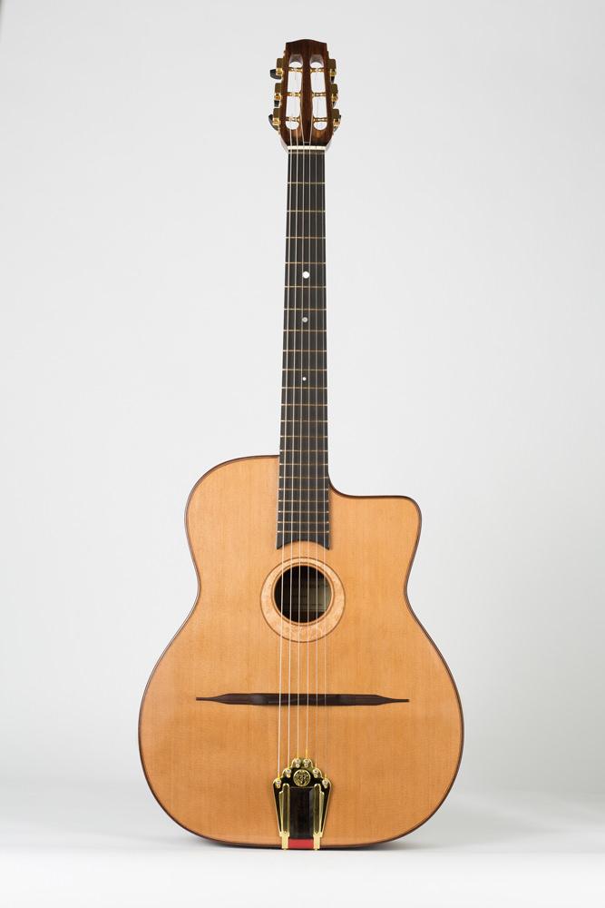 Full front manouche guitar | Kazourian Luthier Montréal