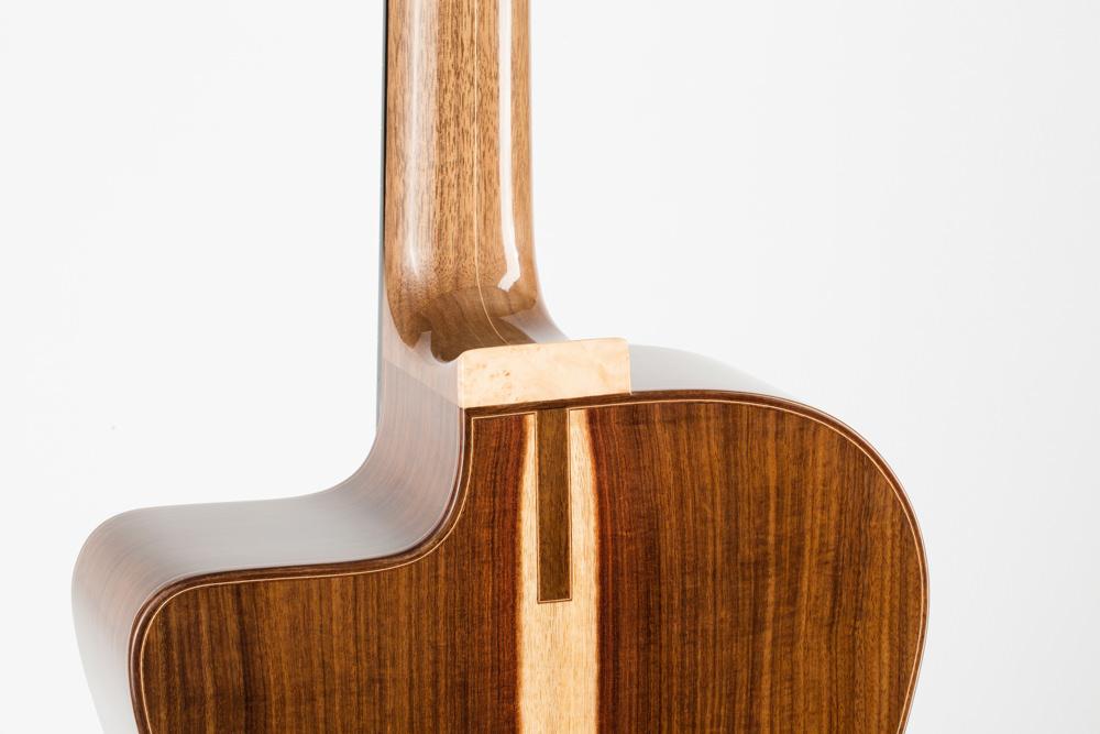Detail heel gypsy guitar | Kazourian Luthier Montréal