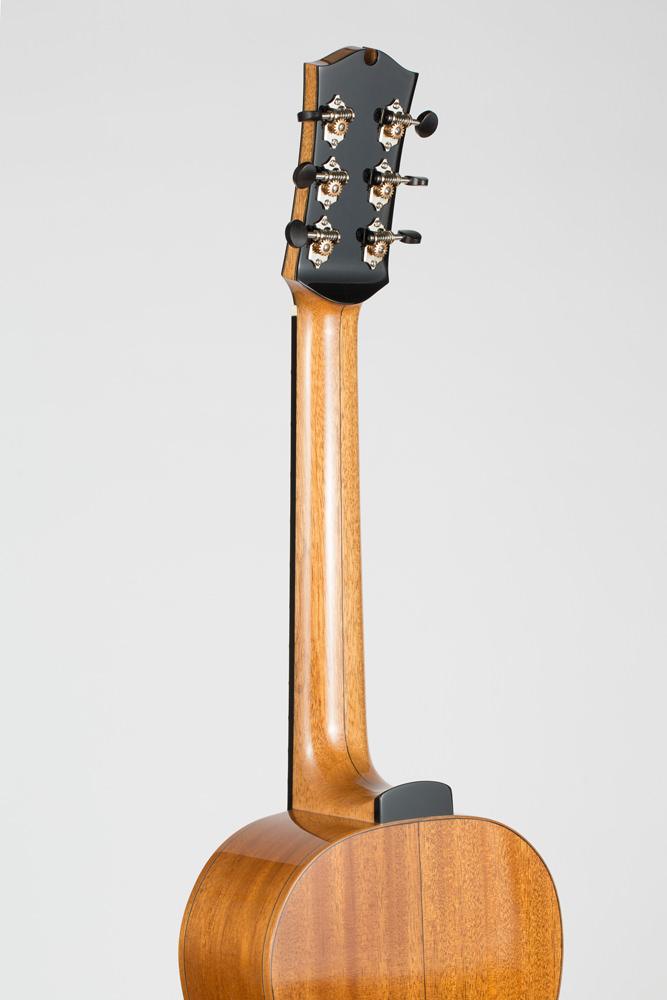 Detail back neck Parlor Guitar | Kazourian Luthier Montréal