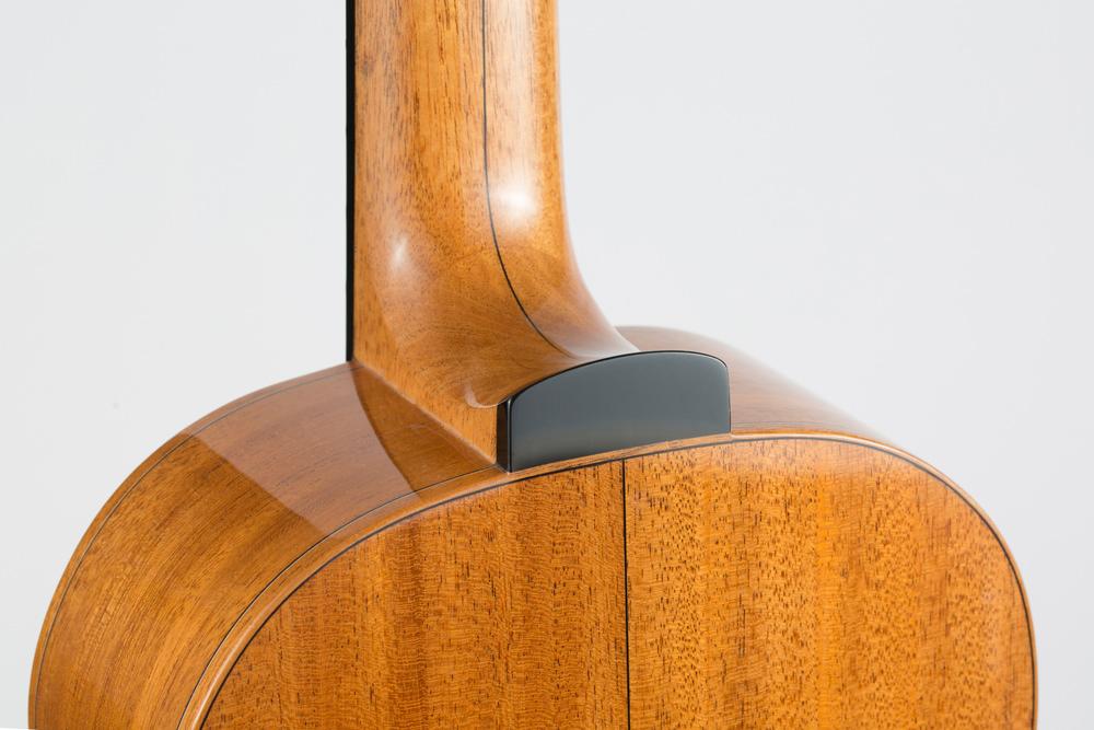 Detail back 3/4 Parlor Guitar | Kazourian Luthier Montréal