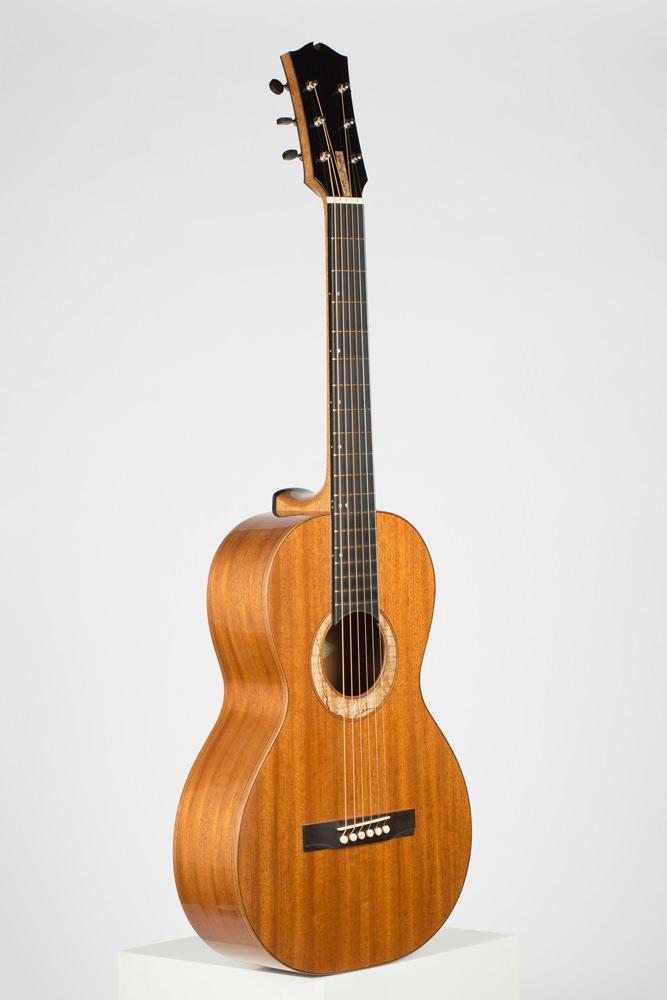 3/4 view Parlor Guitar | Kazourian Luthier Montréal