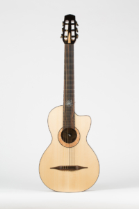 full front Gypsy Parlor Guitar   Kazourian Luthier